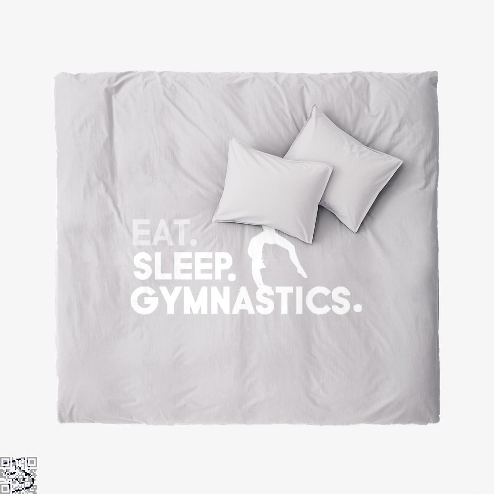 Eat, Sleep, Gymnastics Ft Aliya Mustafina, Gymnastics Duvet Cover Set