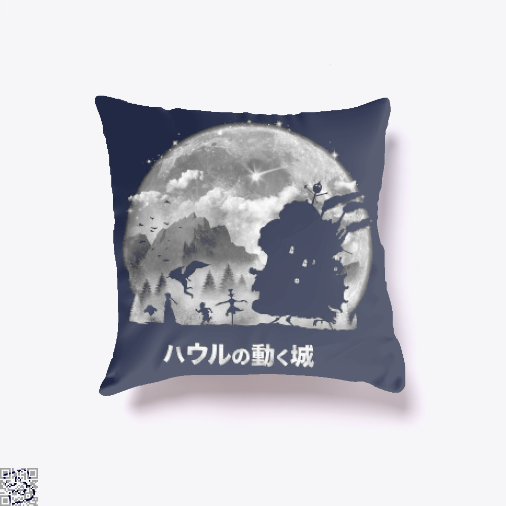 A Castles Journey, Howl's Moving Castle Throw Pillow Cover
