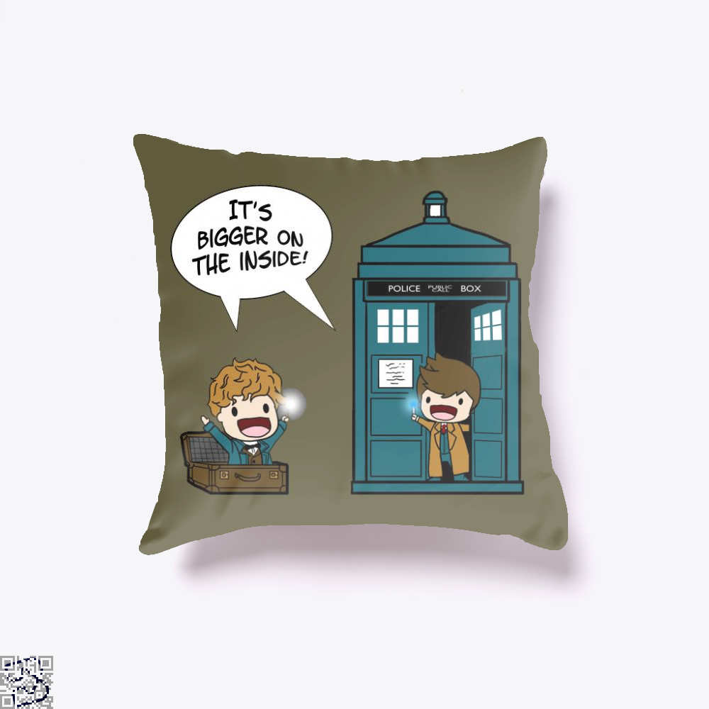 It's Bigger On The Inside, Doctor Who Throw Pillow Cover