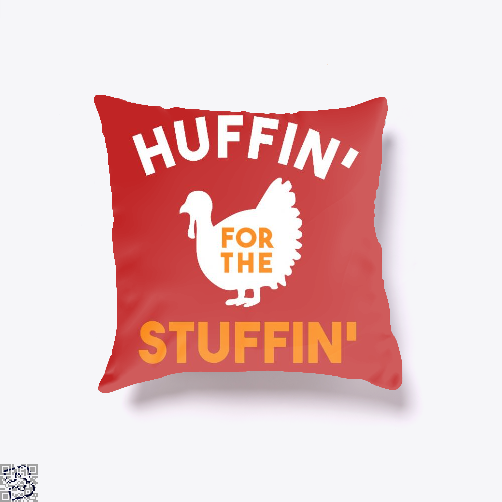 Huffin For The Stuffin, Turkey Throw Pillow Cover