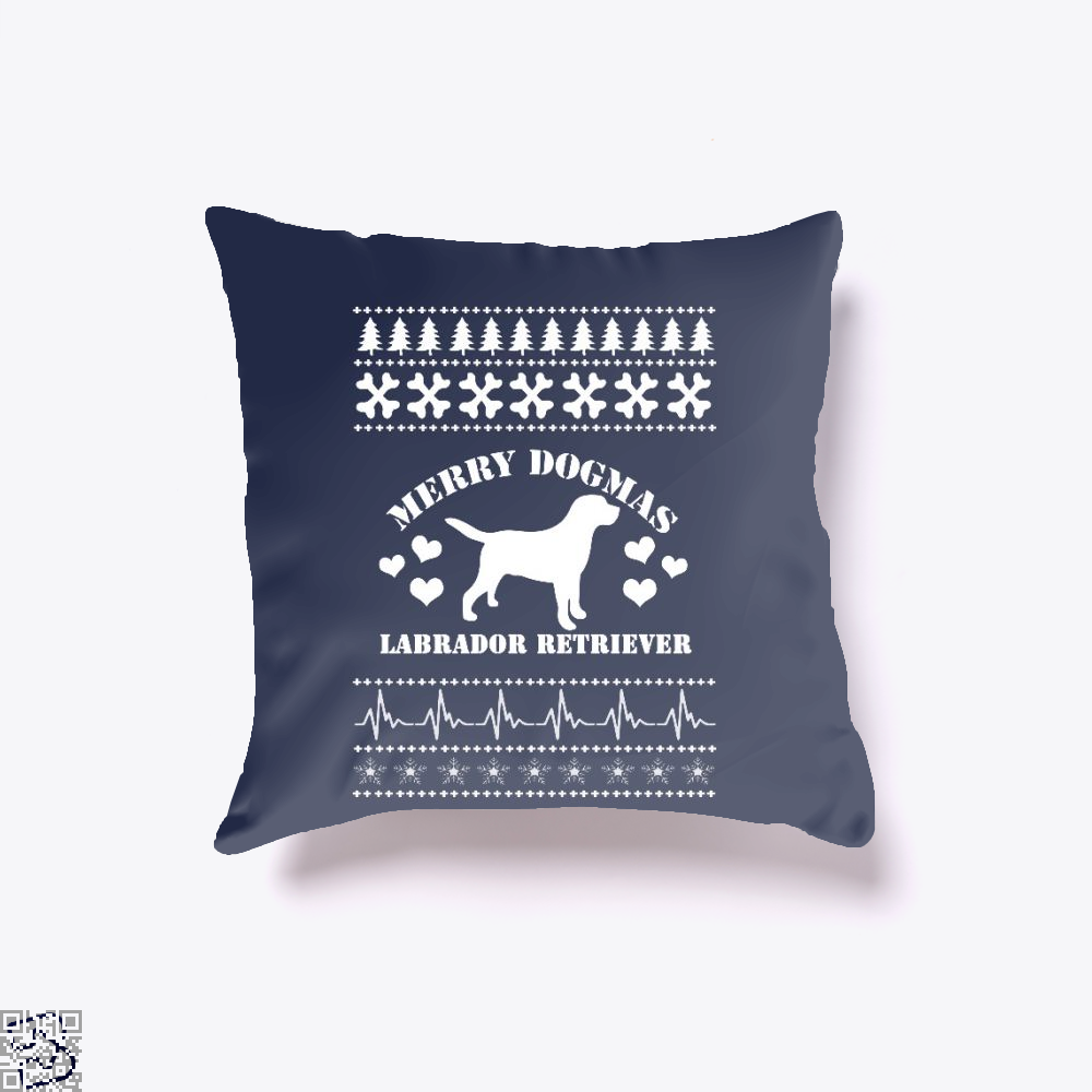 Merry Dogmas Labrador Retriever, Labrador Retriever Throw Pillow Cover