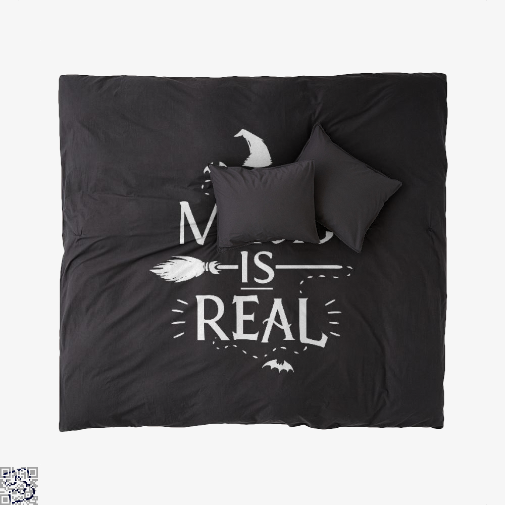 Magic Is Real Halloween Witch, Halloween Duvet Cover Set