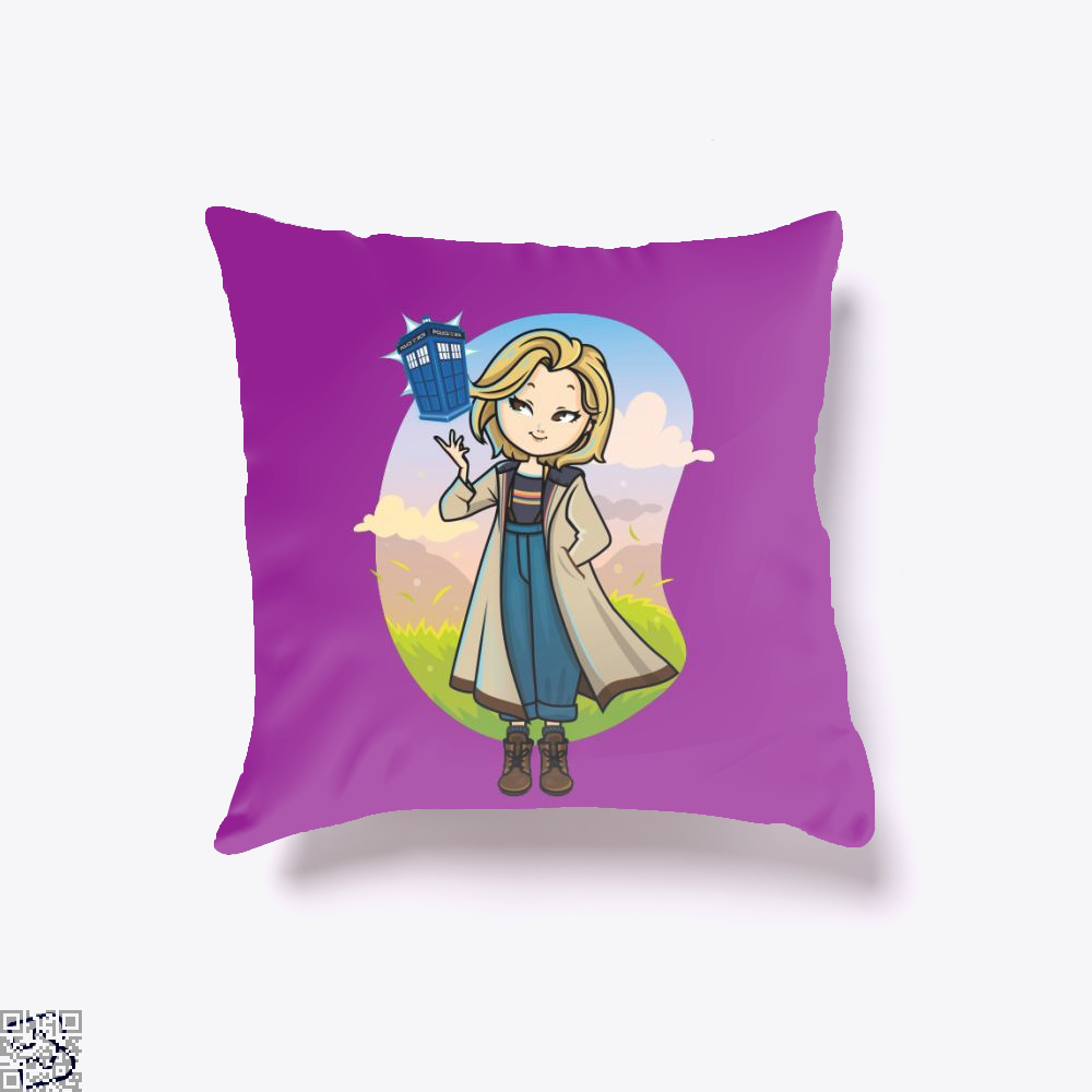 13th Doctor, Doctor Who Throw Pillow Cover