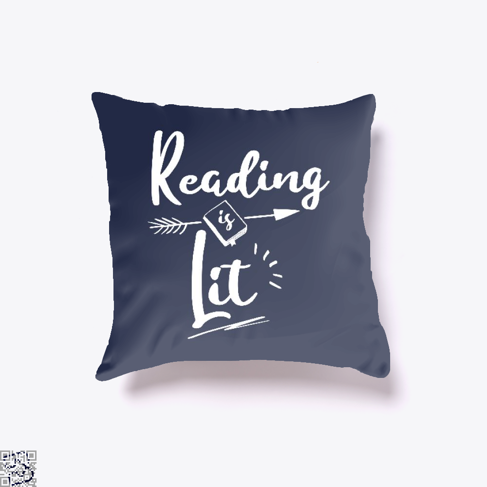 Reading Is Lit Funny, Reading Throw Pillow Cover