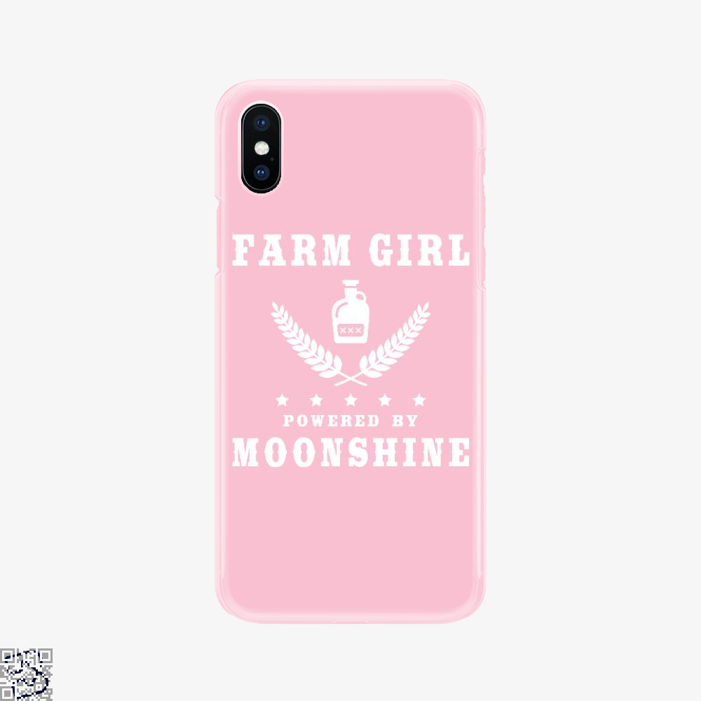 Farm Girl Powered By Moonshine, Drink Phone Case