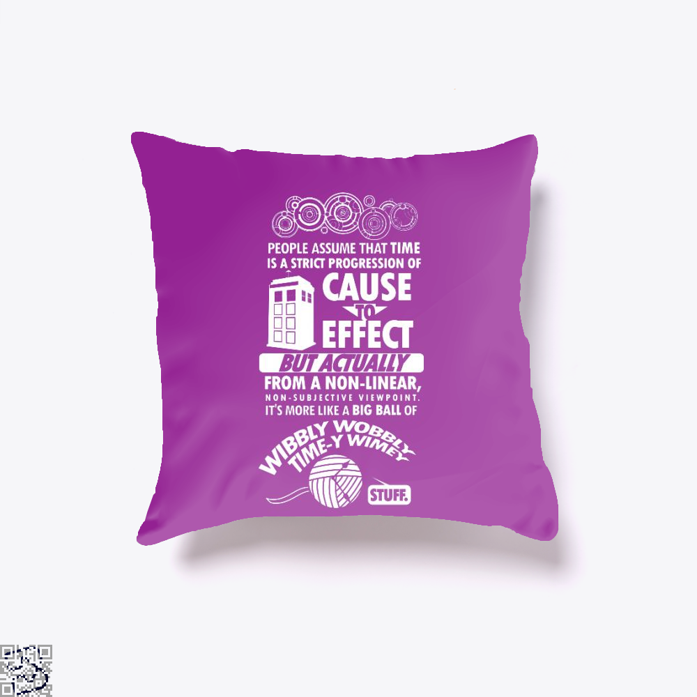 Timey Wimey Tee, Doctor Who Throw Pillow Cover