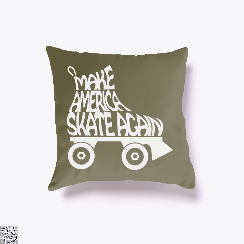 Make America Skate Again, Skating Throw Pillow Cover