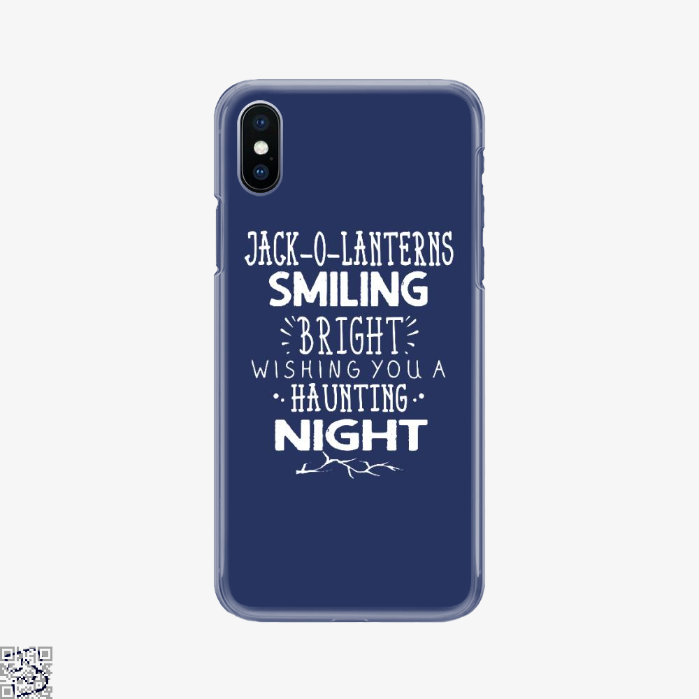 Jack O Lanterns Smiling Bright, Halloween Phone Case