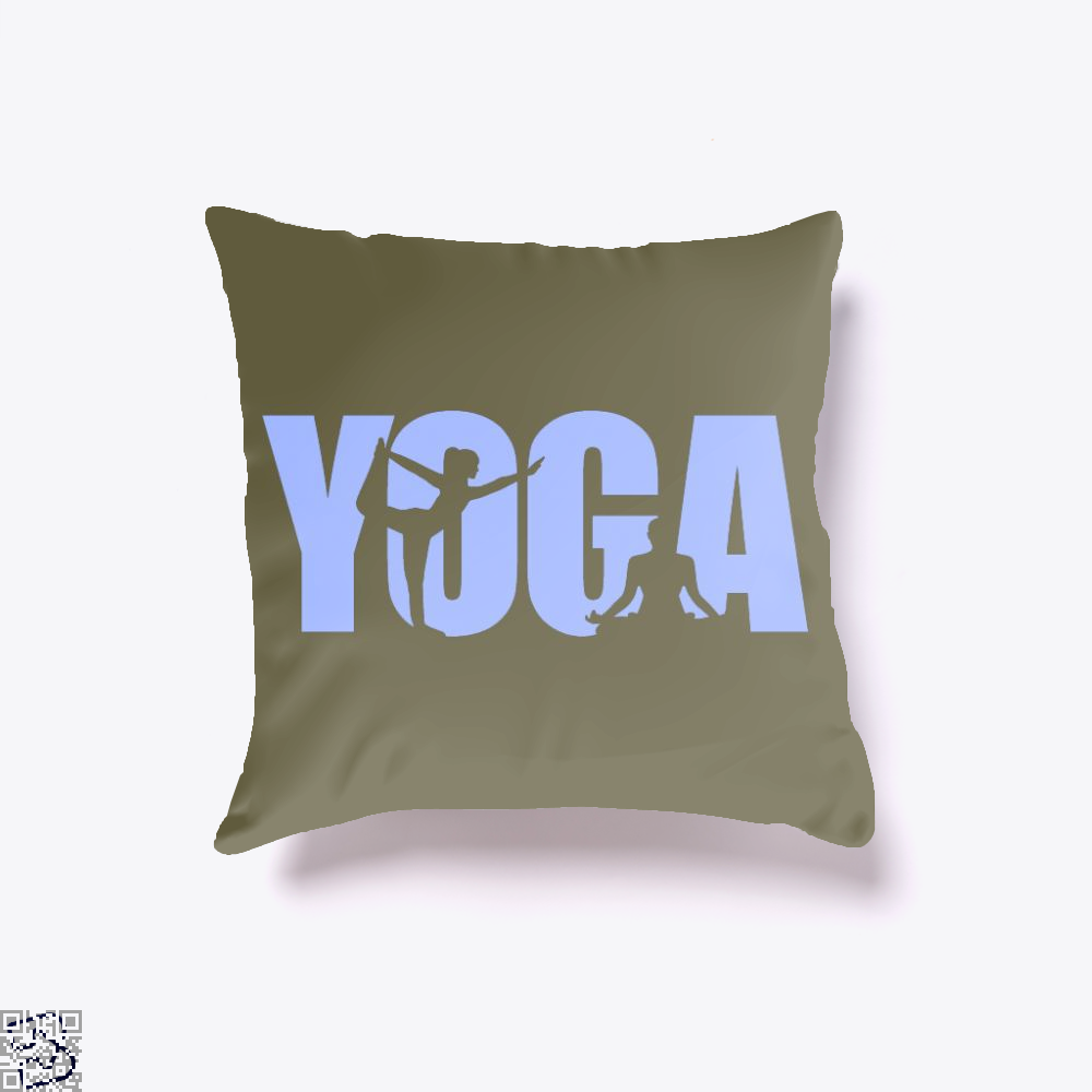 Yoga, Yoga Throw Pillow Cover