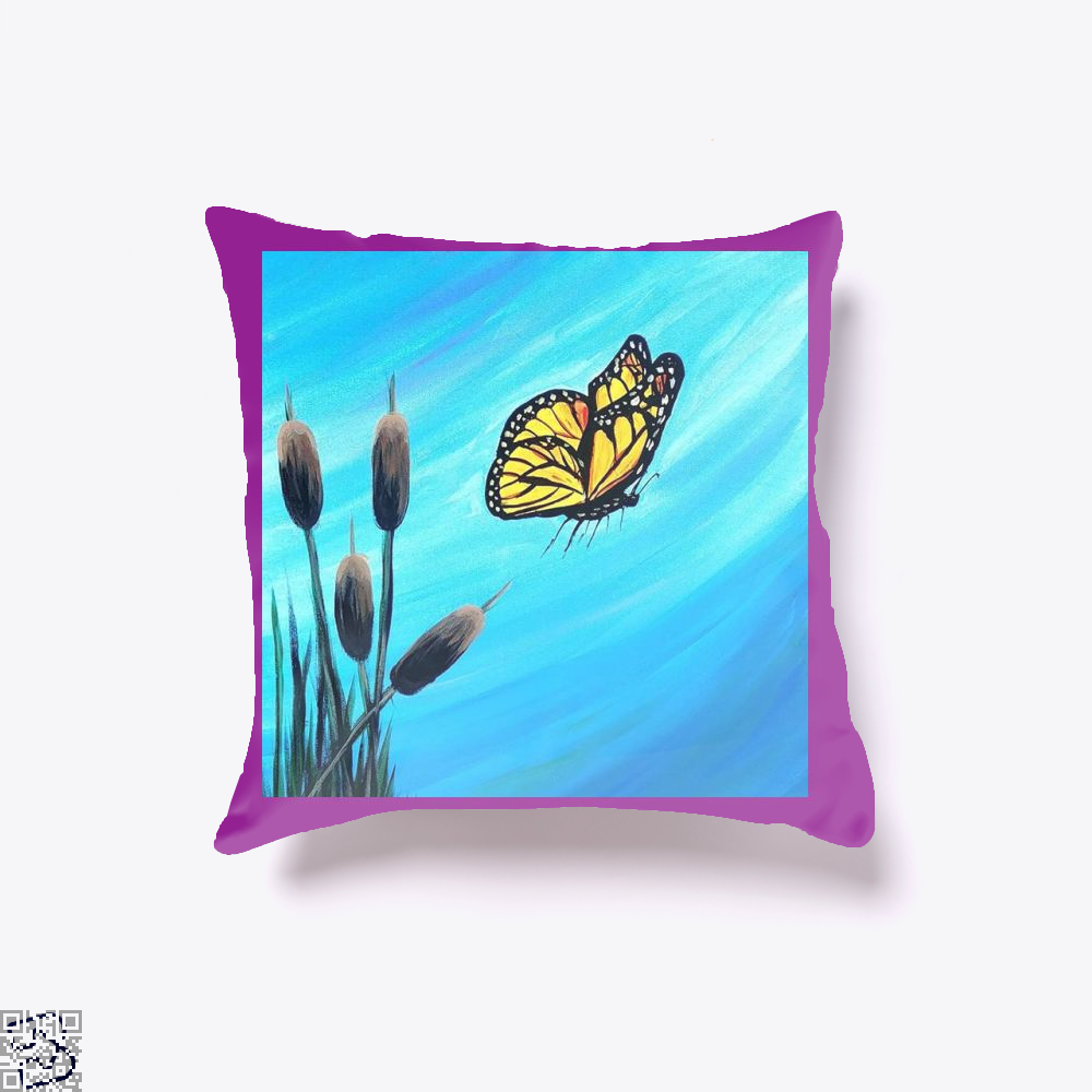 Monarch, Kamloopsartparty Throw Pillow Cover