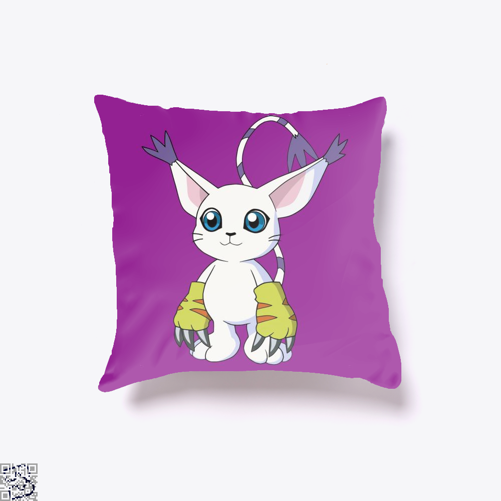 Gatomon, Digimon Throw Pillow Cover