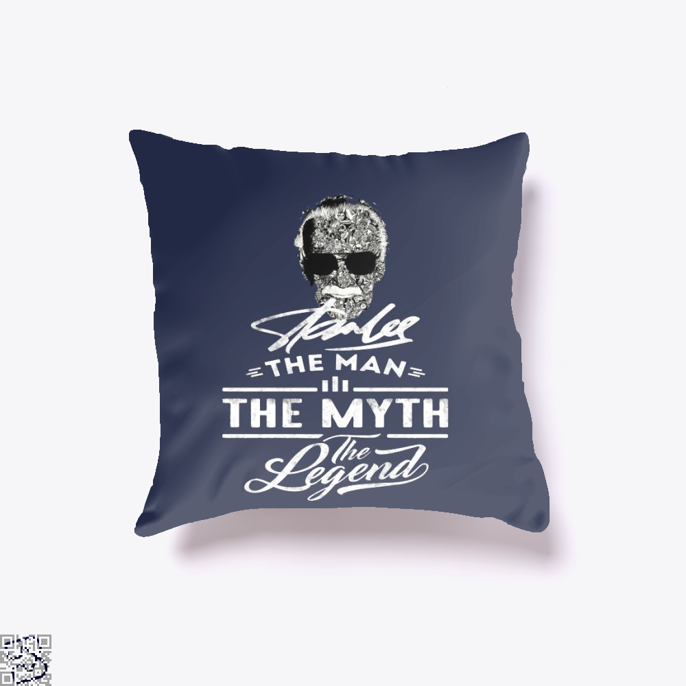 Stan Lee The Man The Myth The Legend, Stan Lee Throw Pillow Cover
