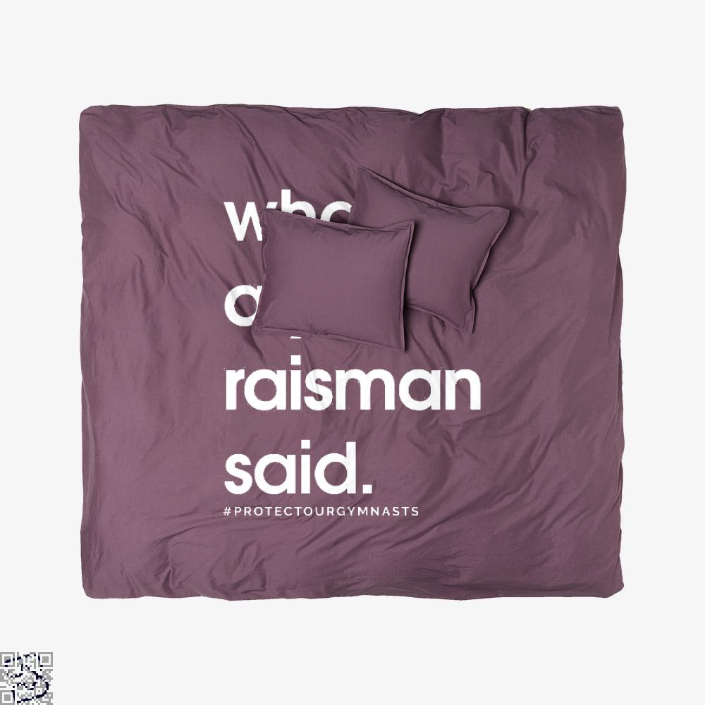 What Aly Raisman Said, Gymnastics Duvet Cover Set