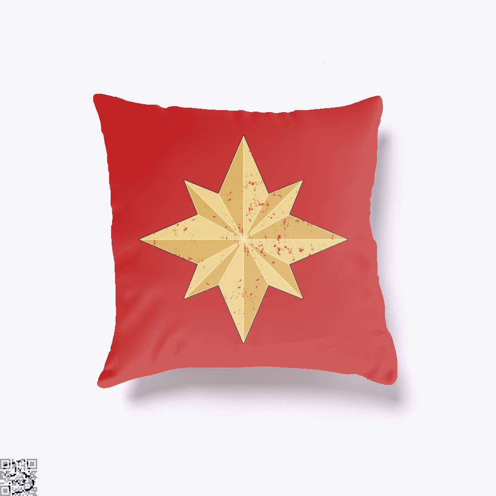 Captain Marvel Logo, Captain Marvel Throw Pillow Cover