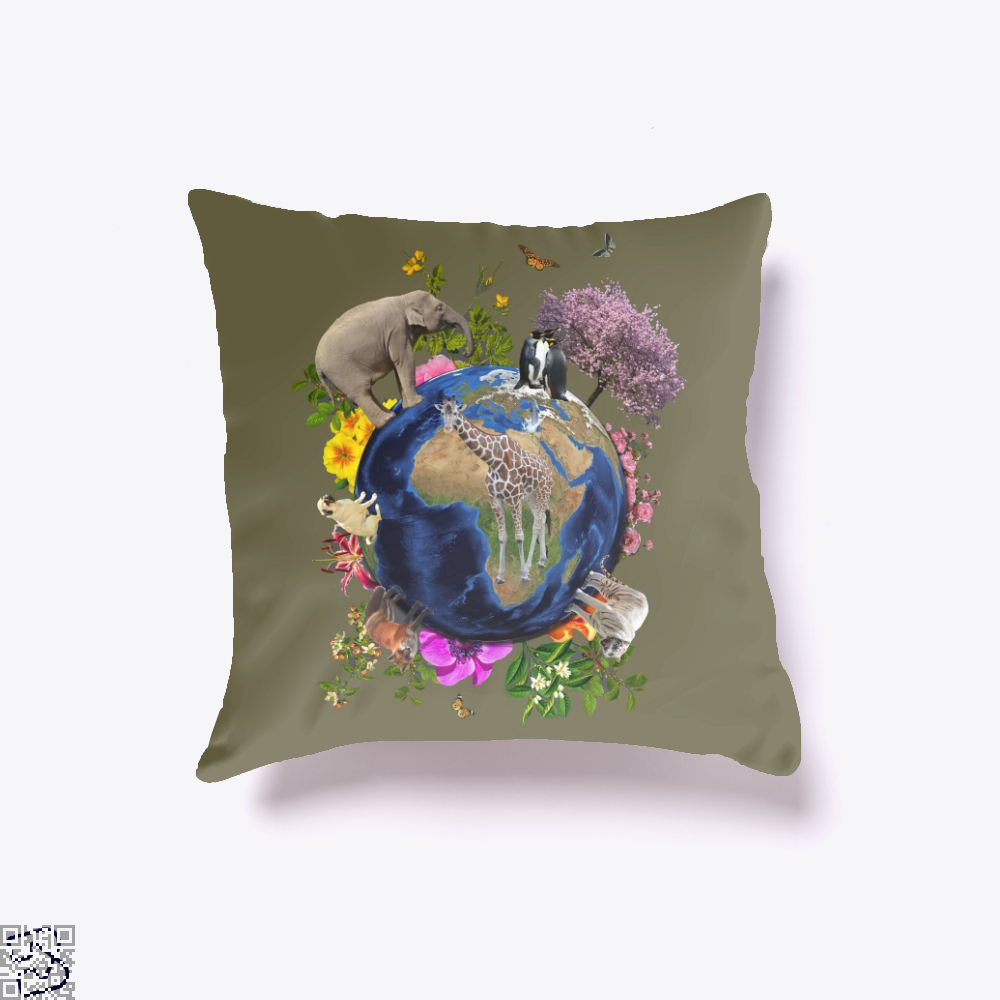 Nature, Giraffe Throw Pillow Cover