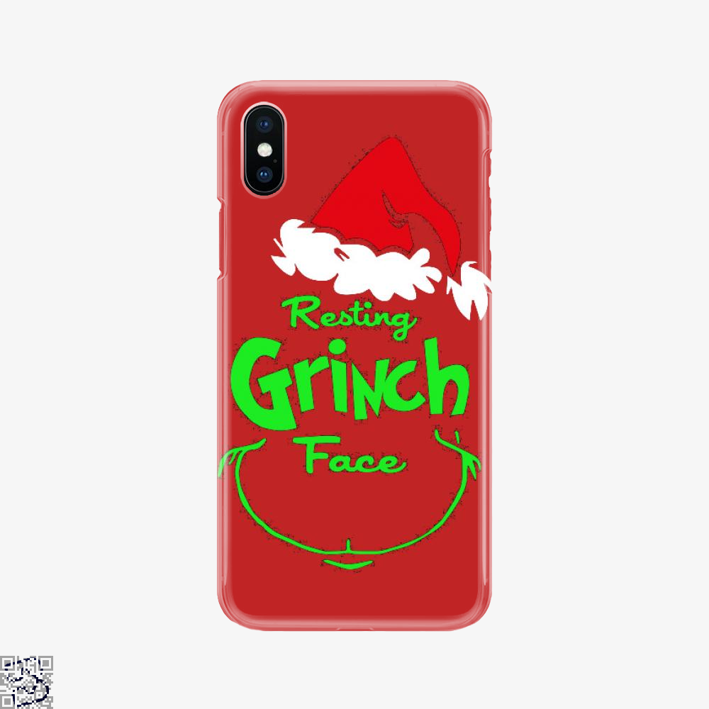 Resting Grinch Face, Grinch Phone Case