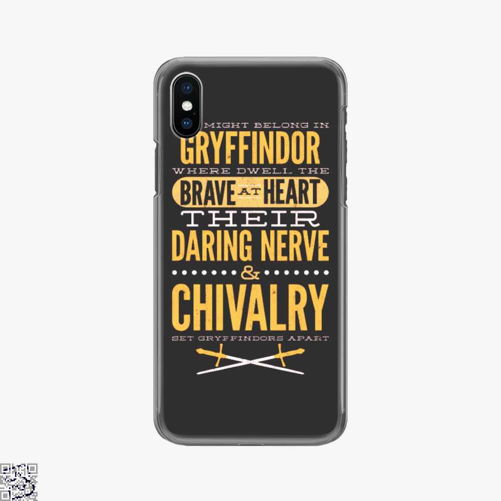 Gryffindor Brave Heart, Harry Potter Phone Case