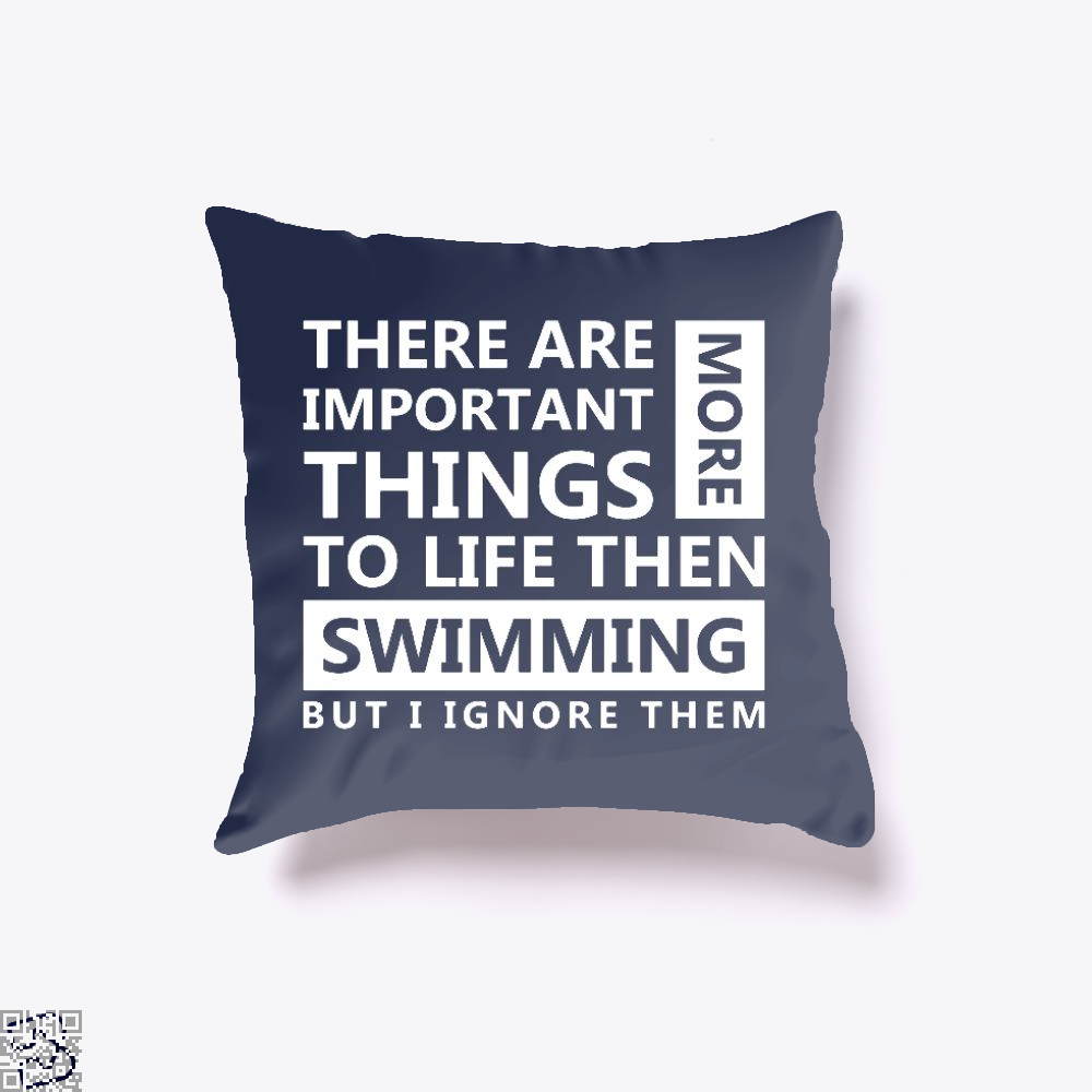 Swimming Love, Swim Throw Pillow Cover