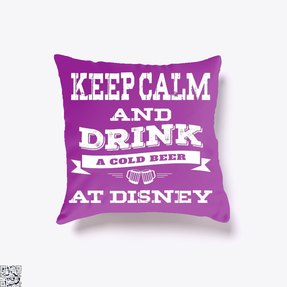 Keep Calm And Drink A Beer, Wine Throw Pillow Cover