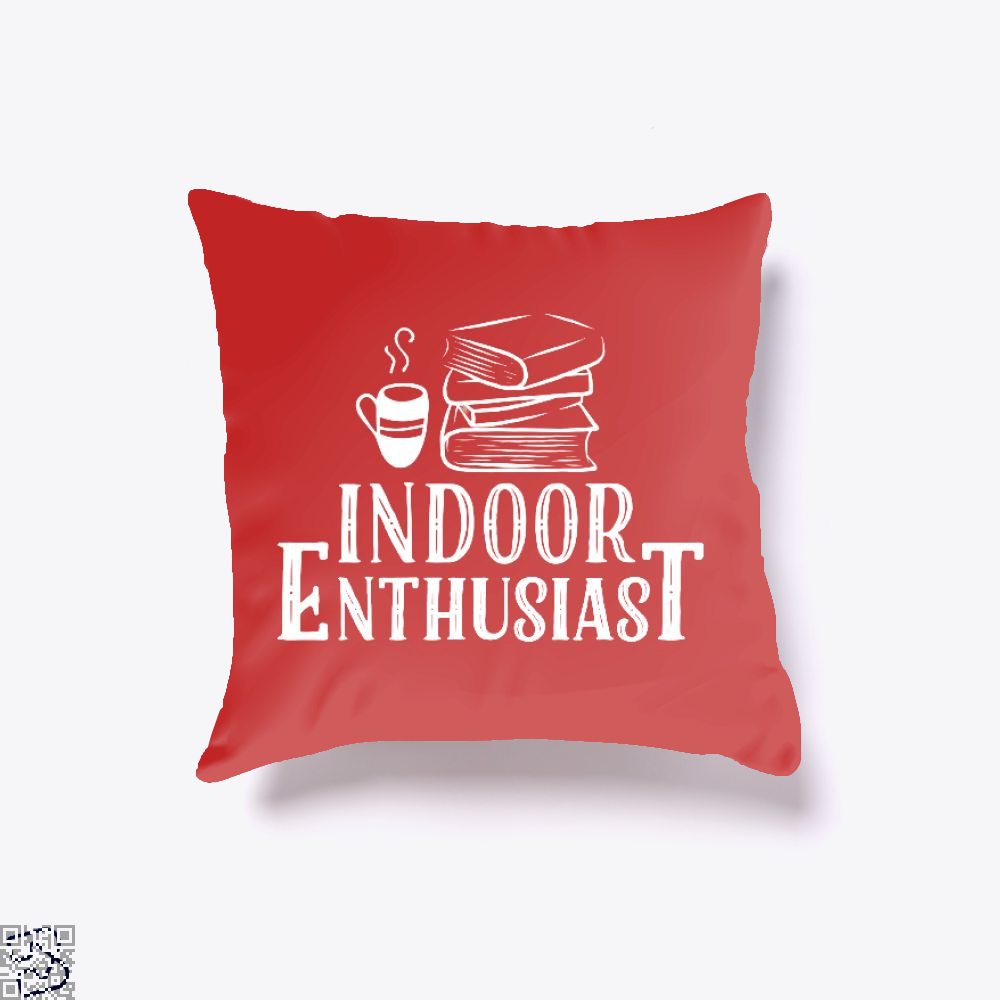 Indoor Enthusiast, Reading Throw Pillow Cover