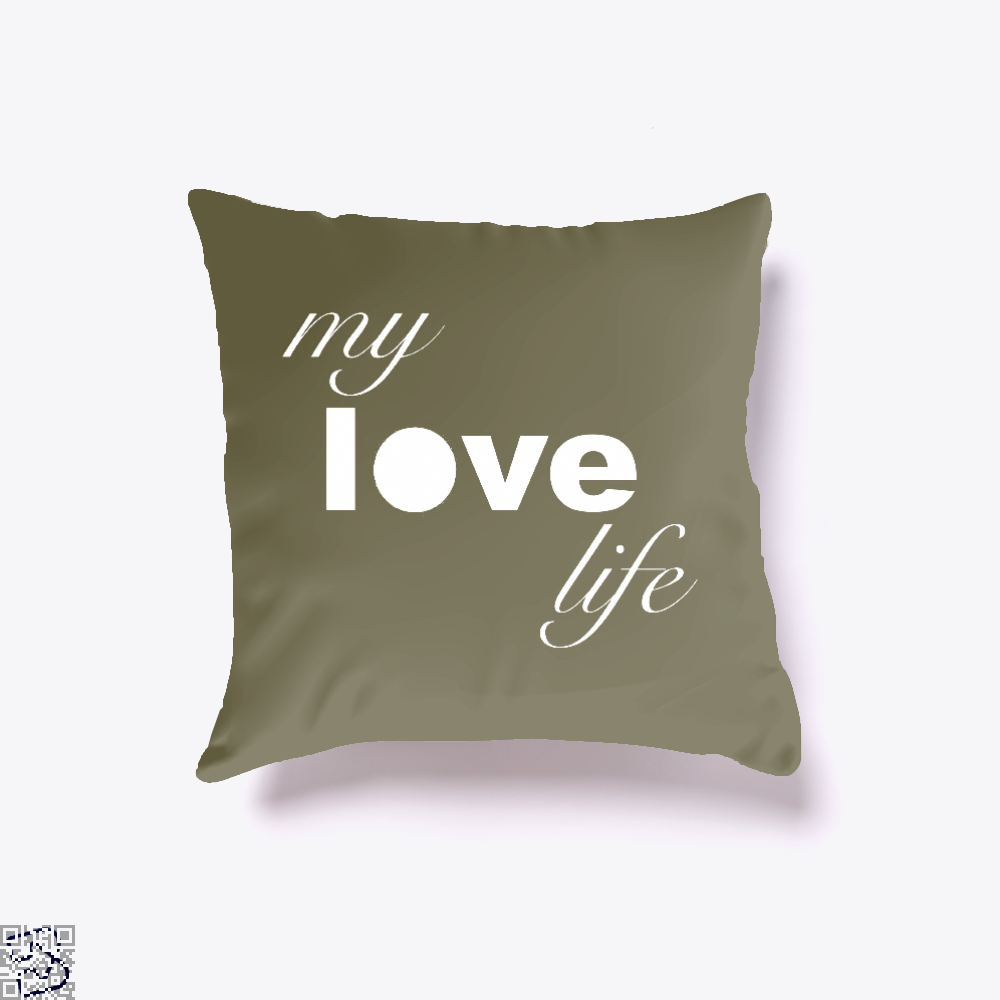 My Love Life Tennis, Tennis Throw Pillow Cover