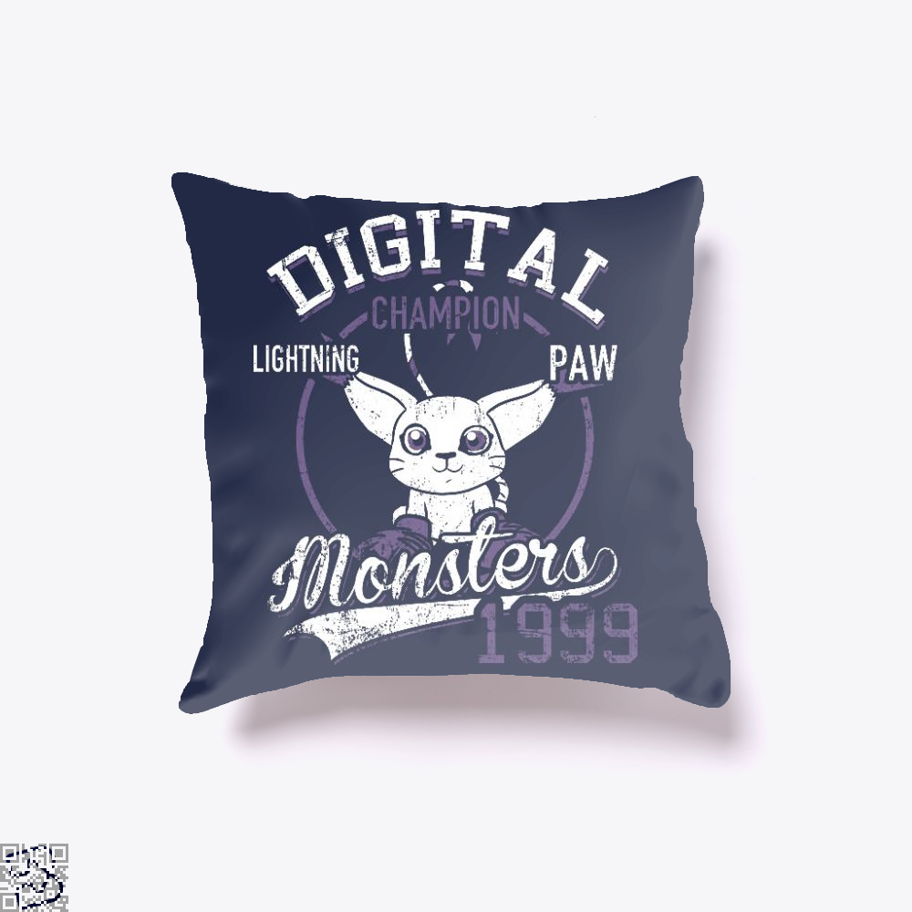 Gatomon Digital Monster 1999, Digimon Throw Pillow Cover