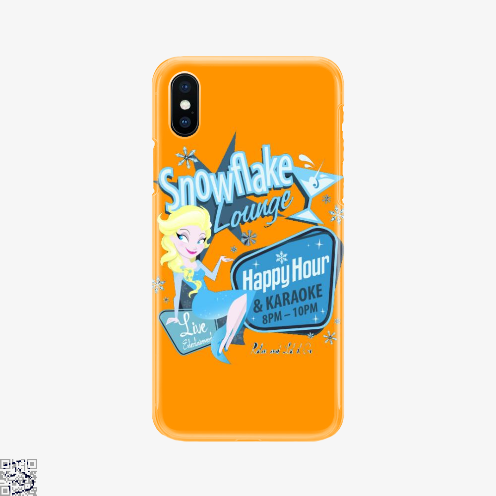Snowflake Lounge, Frozen Phone Case