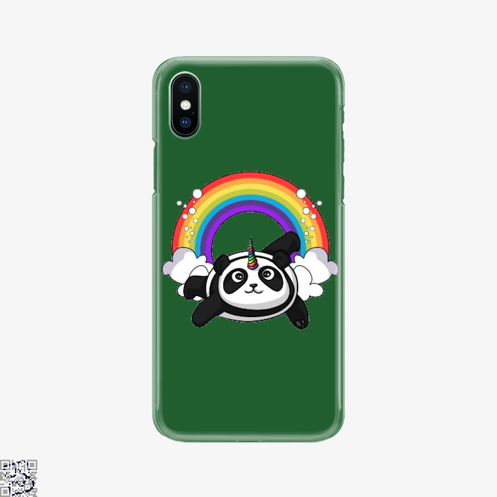 Pandicorn Unicorn Panda Bear Colorful, Panda Phone Case