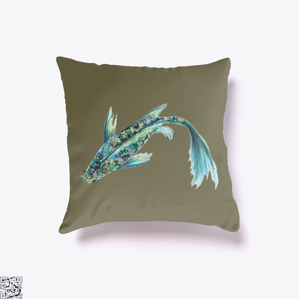 Watercolor Koi, Kamloopsartparty Throw Pillow Cover