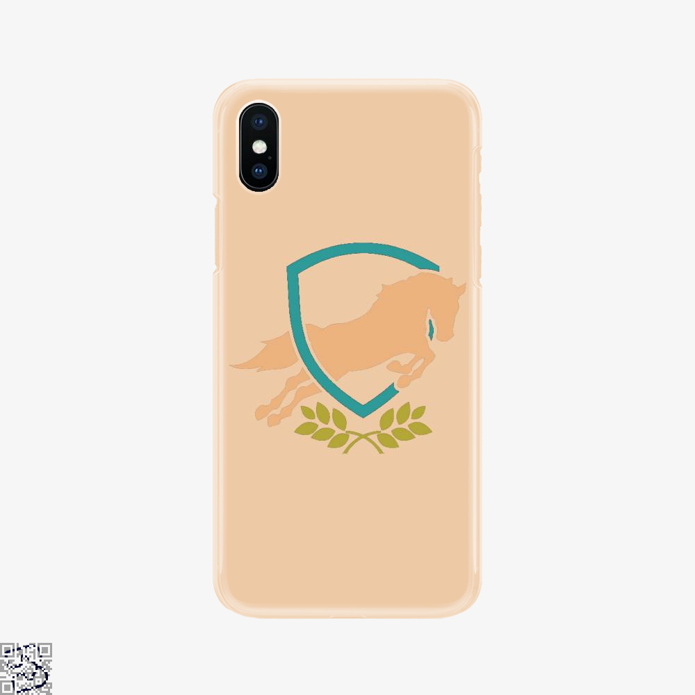 Horse Jumping Out Of Shield, Horse Phone Case