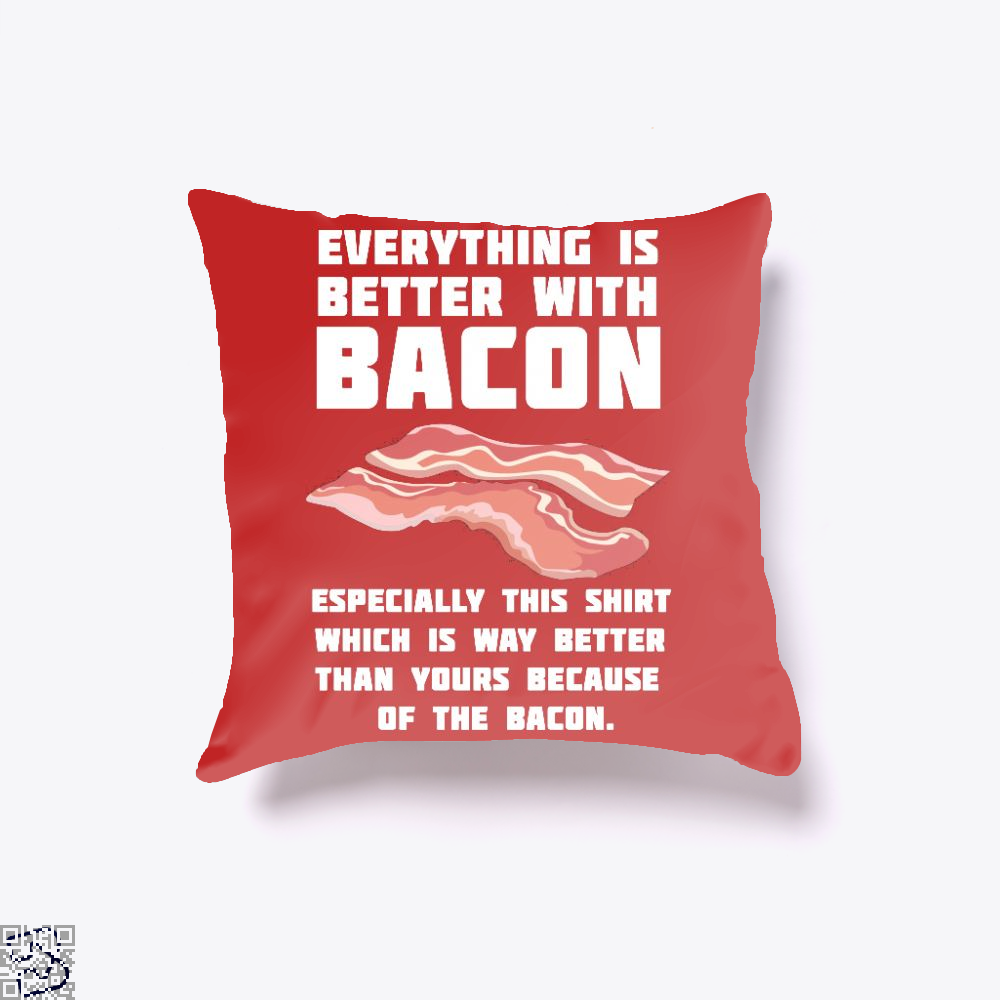Bacon Lover, Bacon Throw Pillow Cover
