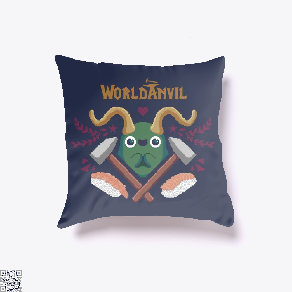 The Hungry Udan, Sushi Throw Pillow Cover