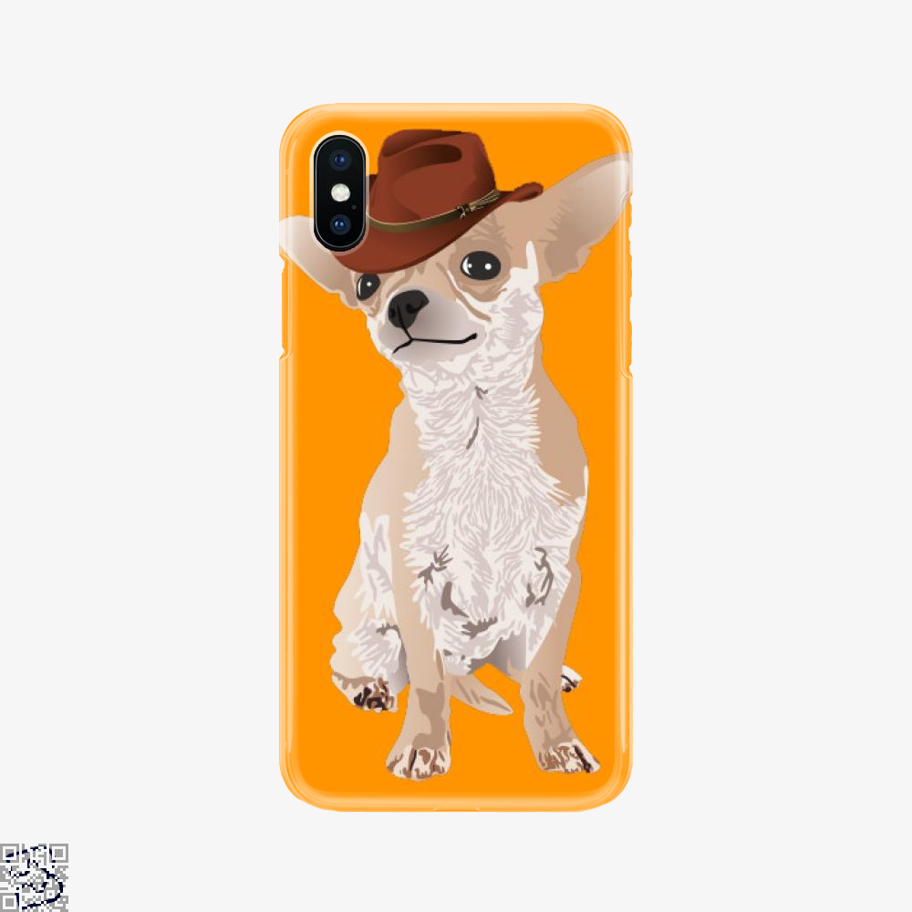 Cute Cowboy Chihuahua Dog, Chihuahua Phone Case