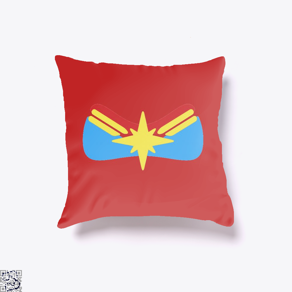 Marvel Logo, Captain Marvel Throw Pillow Cover