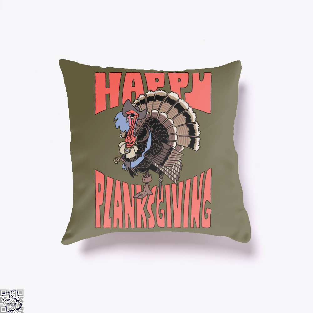 Happy Planksgiving, Turkey Throw Pillow Cover
