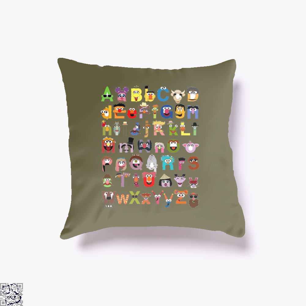 Sesame Street Alphabet , Sesame Street Throw Pillow Cover