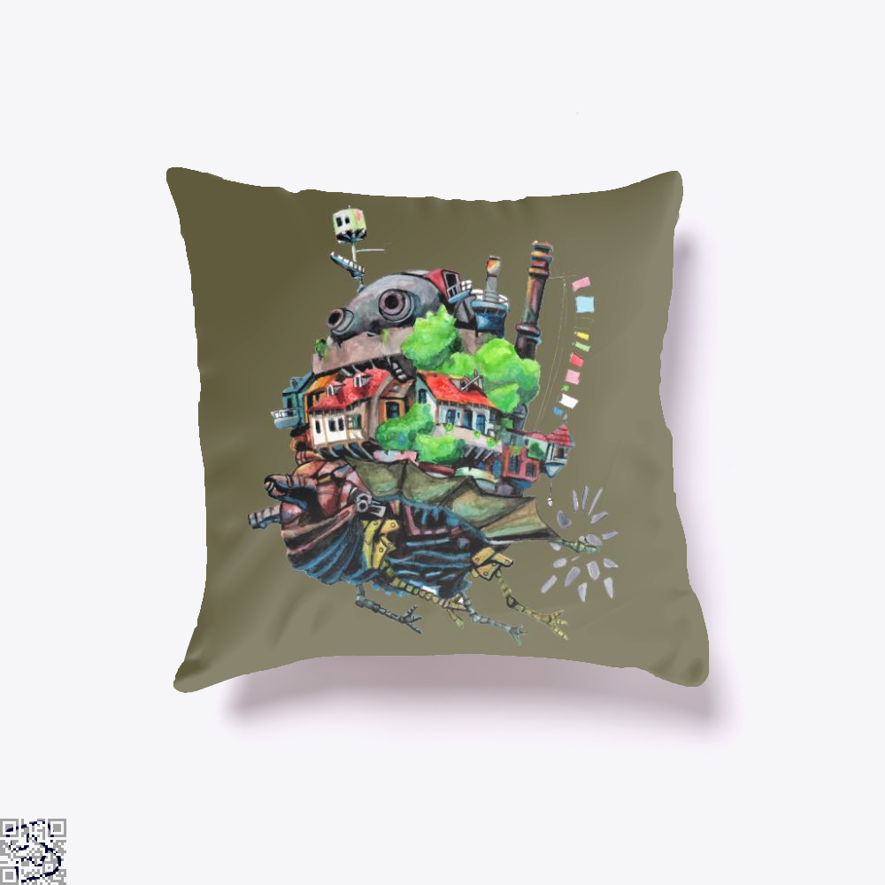 Howls Castle, Howl's Moving Castle Throw Pillow Cover