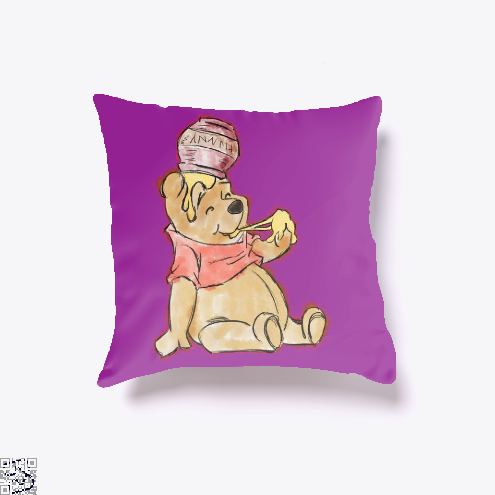 Pooh Bear Watercolor, Winnie-the-pooh Throw Pillow Cover
