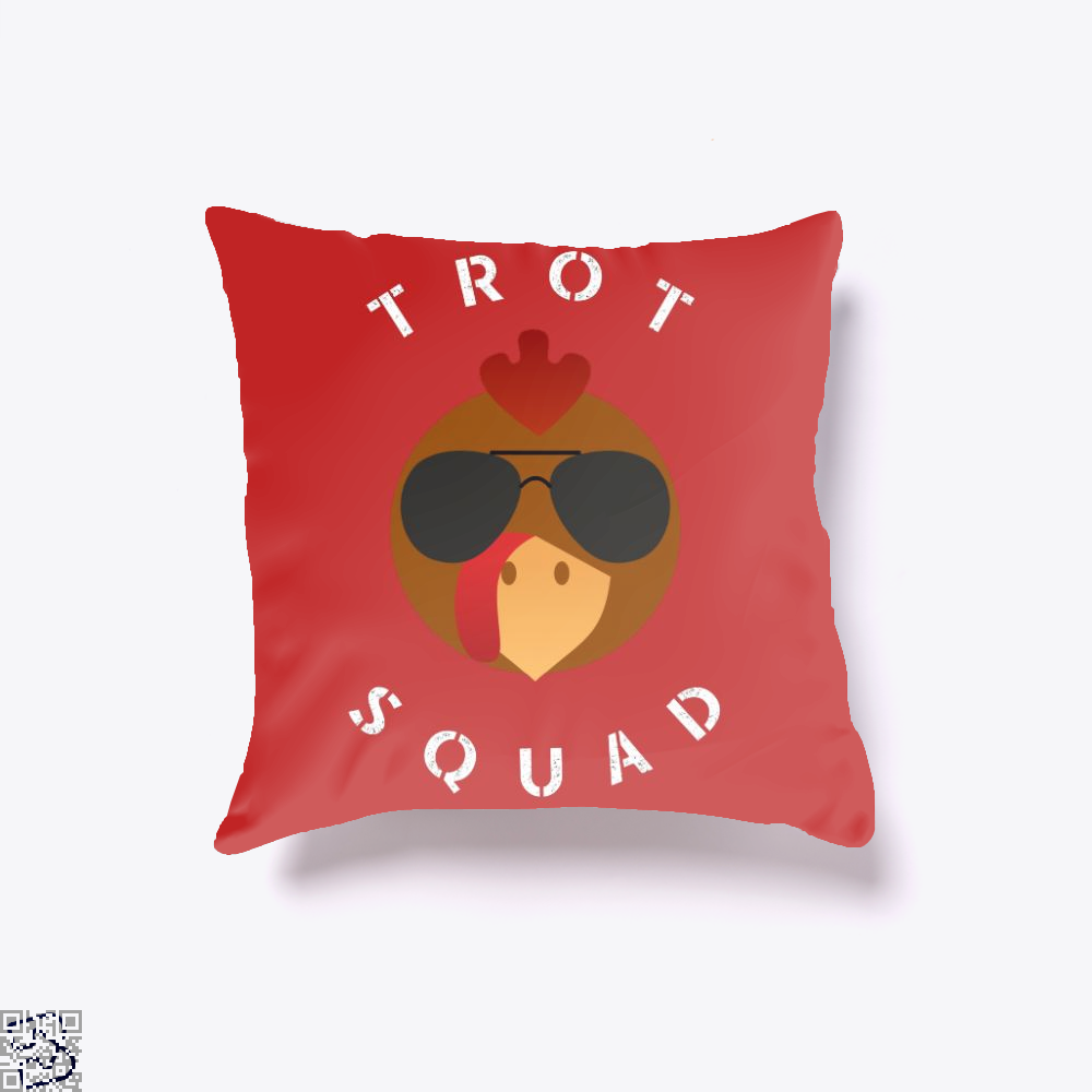 Trot Squad Shirt Turkey Gift, Turkey Throw Pillow Cover