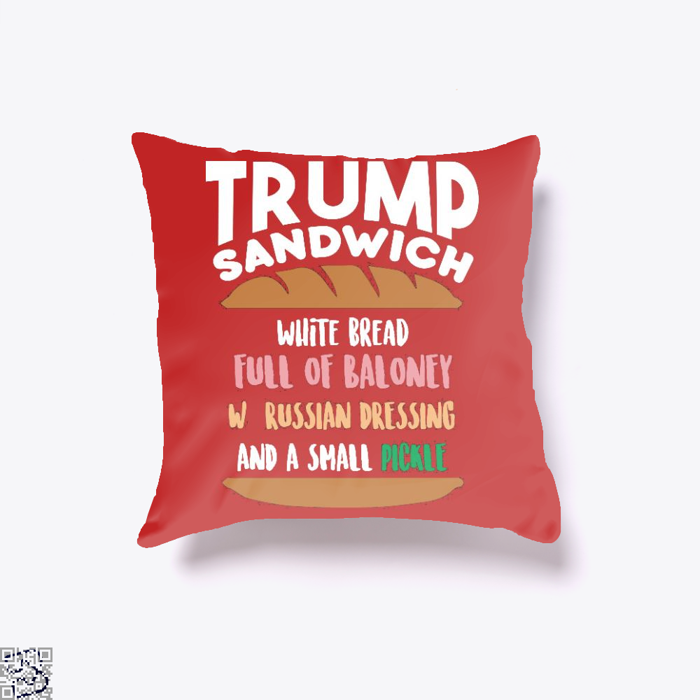 Trump Sandwich, Donald Trump Throw Pillow Cover