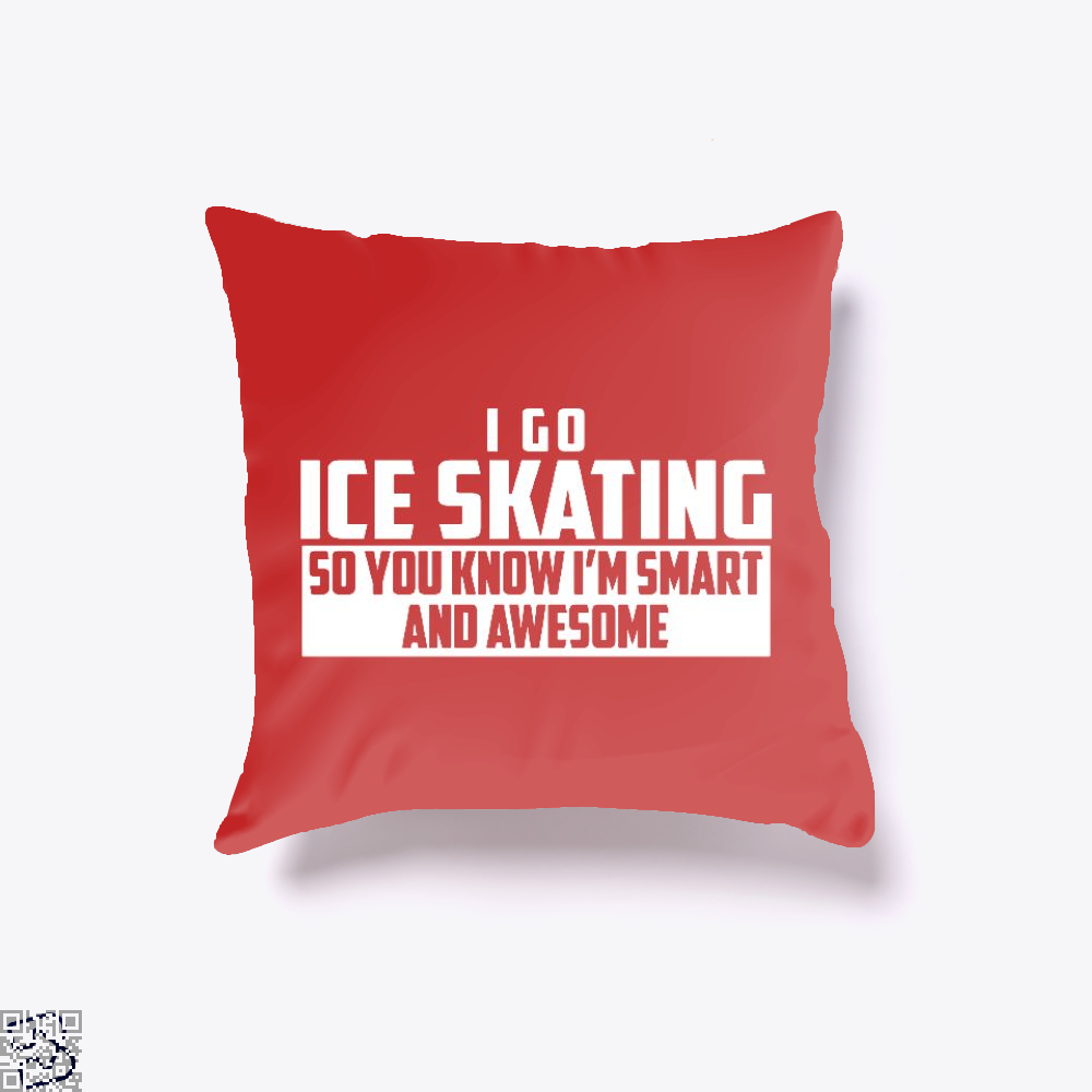Smart And Awesome Ice Skating, Skating Throw Pillow Cover