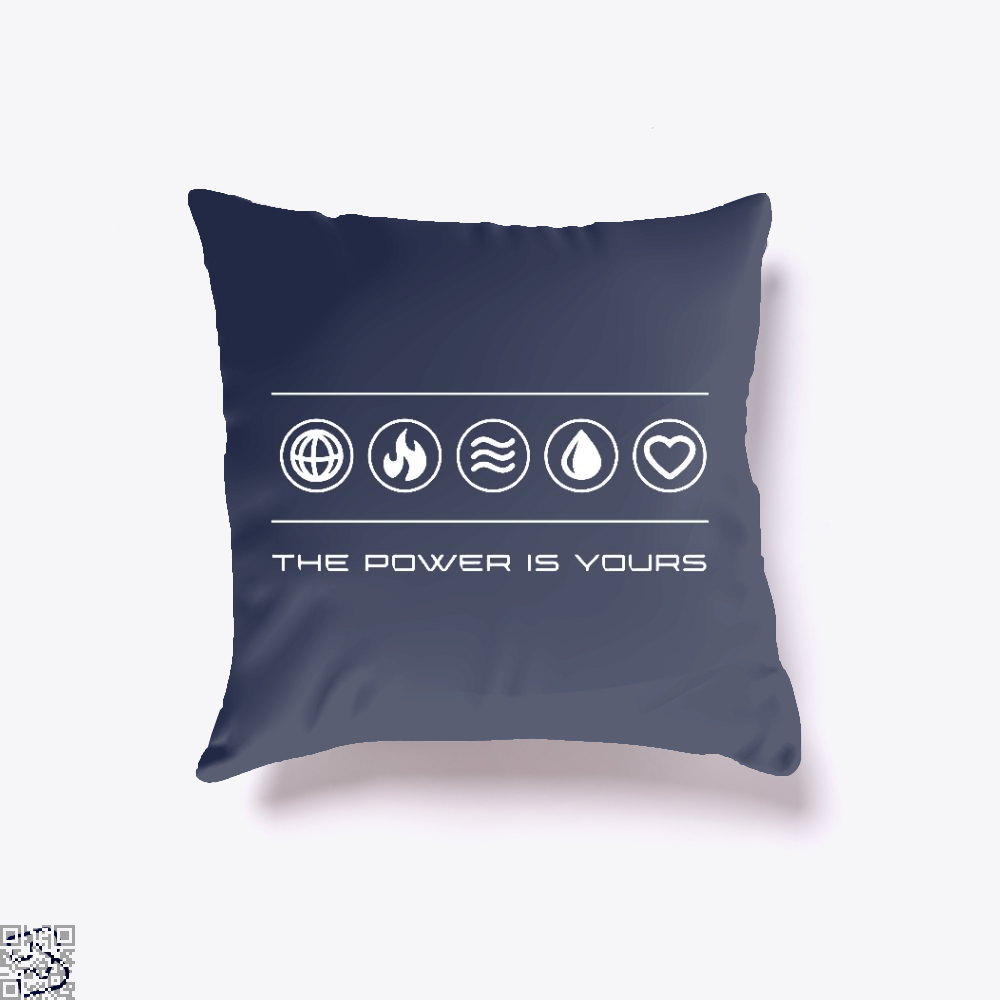 The Power Is Yours, Captain Marvel Throw Pillow Cover