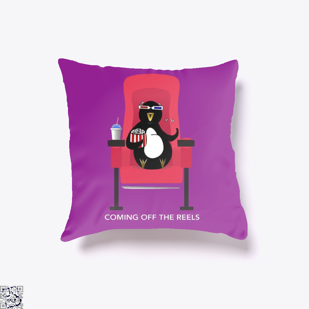 Knickerbocker At The Movies, Penguin Throw Pillow Cover