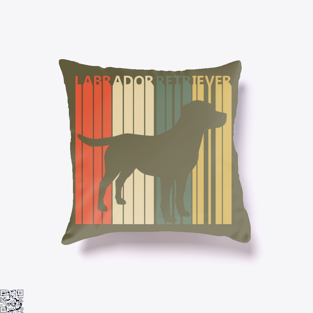 Vintage 1970s Labrador Retriever Dog Owner Gift, Labrador Retriever Throw Pillow Cover