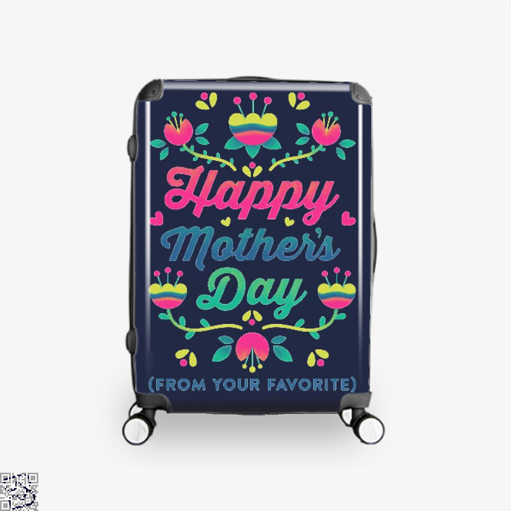 Happy Mothers Day (From Your Favorite) Suitcase - Blue / 16 - Productgenjpg