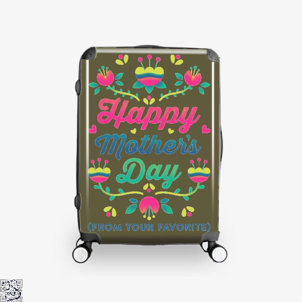 Happy Mothers Day (From Your Favorite) Suitcase - Brown / 16 - Productgenjpg