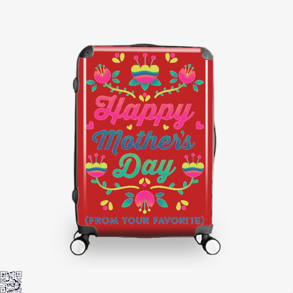 Happy Mothers Day (From Your Favorite) Suitcase - Red / 16 - Productgenjpg