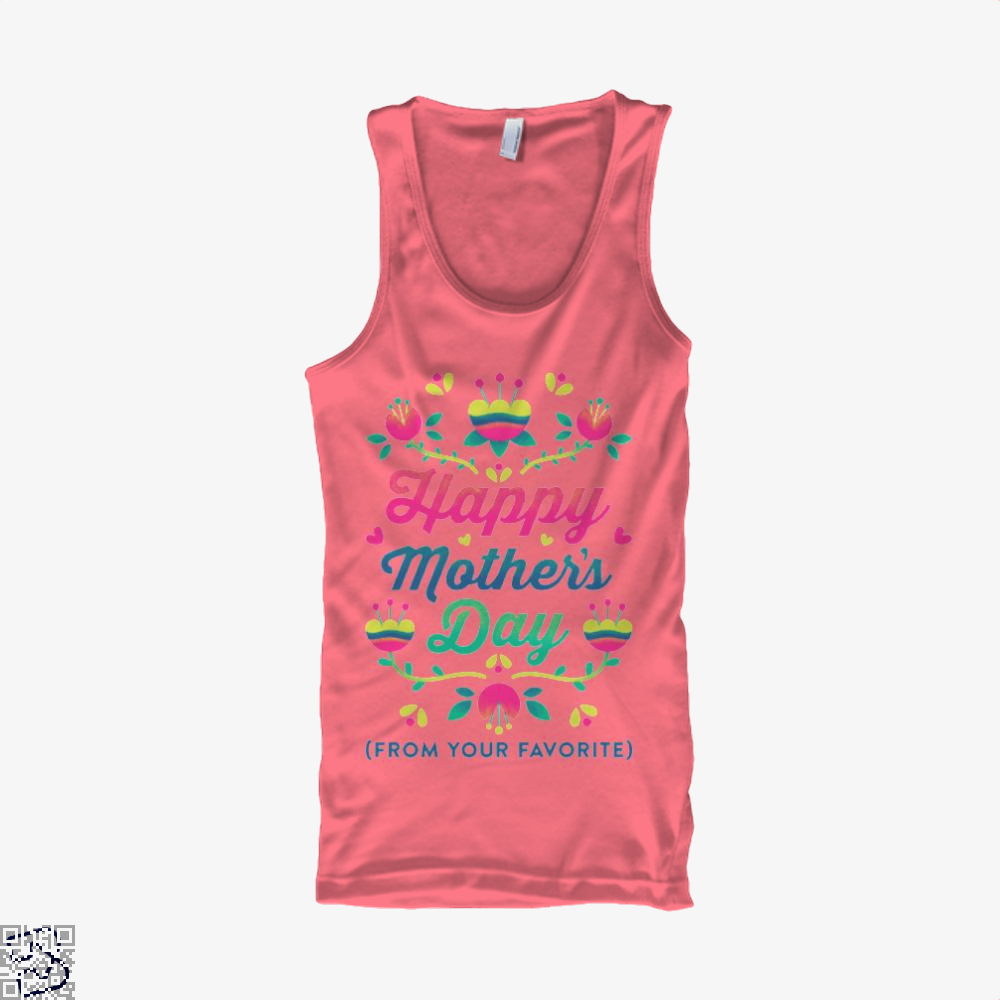 Happy Mothers Day (From Your Favorite) Tank Top - Women / Pink / Xx-Small - Productgenjpg