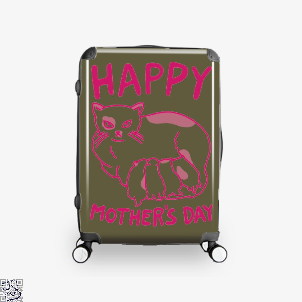 Happy Mothers Day Suitcase - Brown / 16 - Productgenjpg