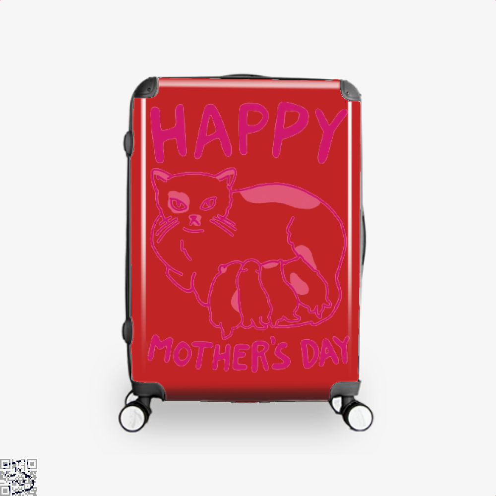 Happy Mothers Day Suitcase - Red / 16 - Productgenjpg